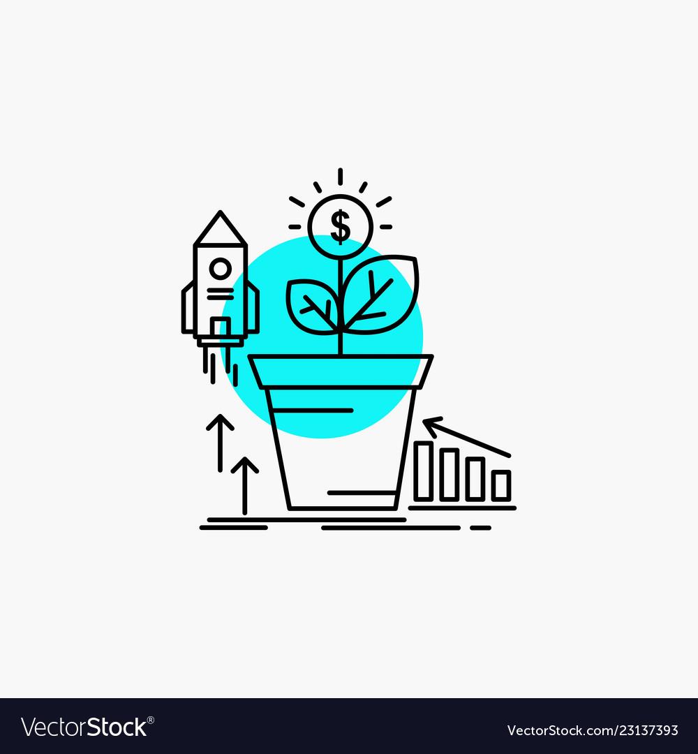 Finance financial growth money profit line icon