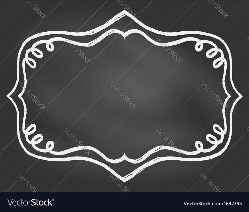 Frame on chalk borard vector image