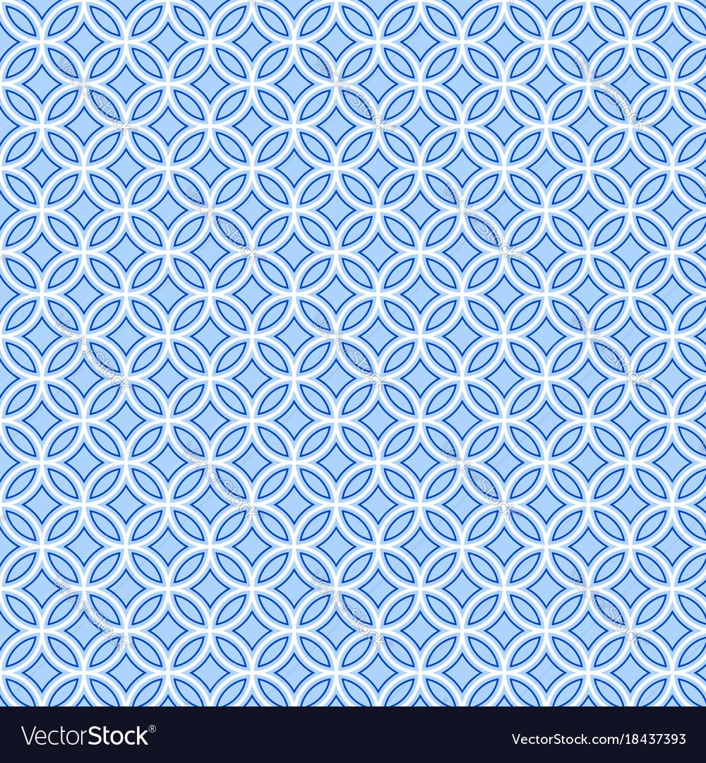 Geometric blue pattern