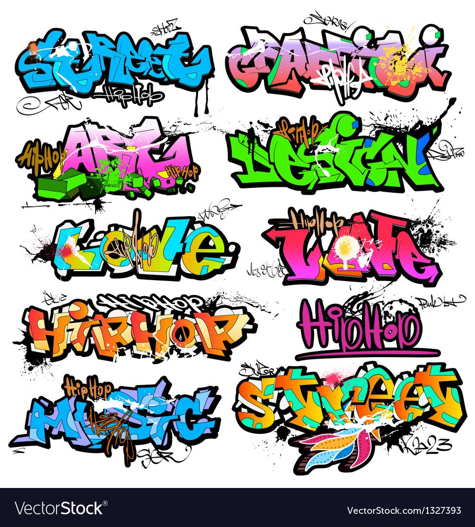 Graffiti wall urban art vector image