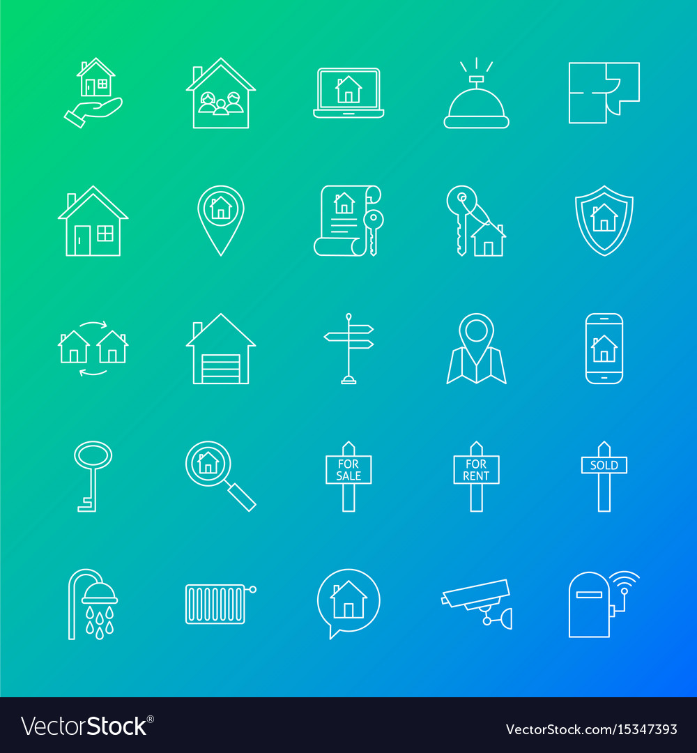 House line icons