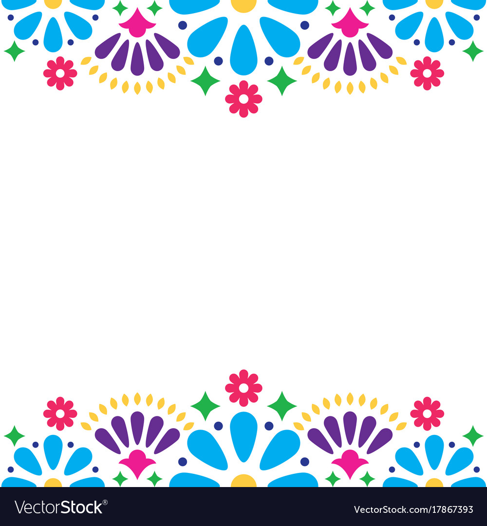 Mexican folk wedding or party invitation vector image stopboris Images