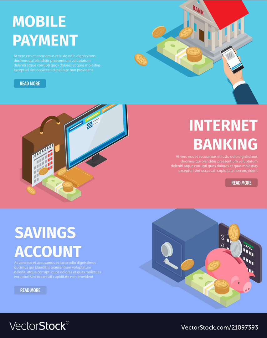 Mobile payment internet banking savings account