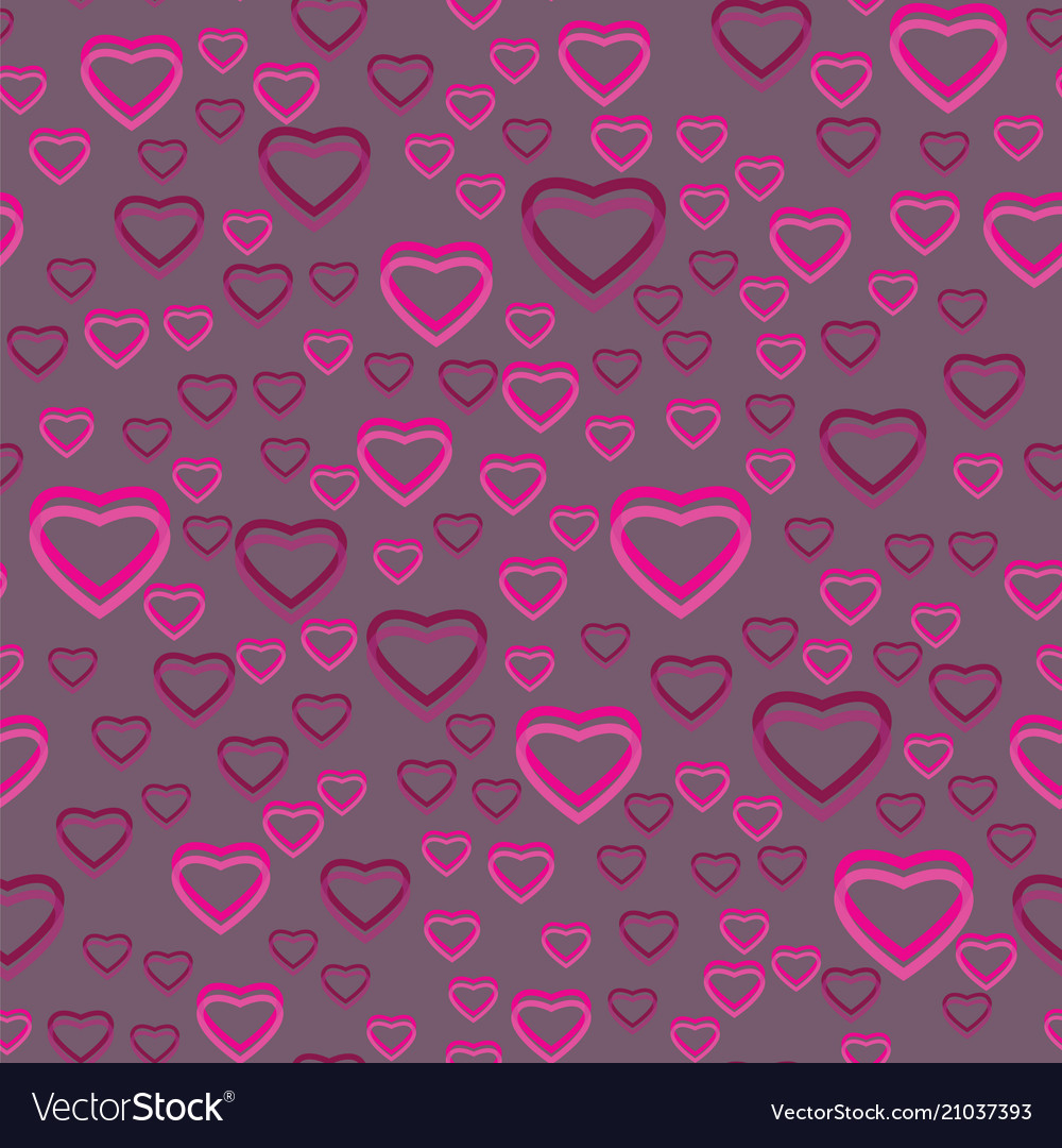 Seamless pattern of many hearts
