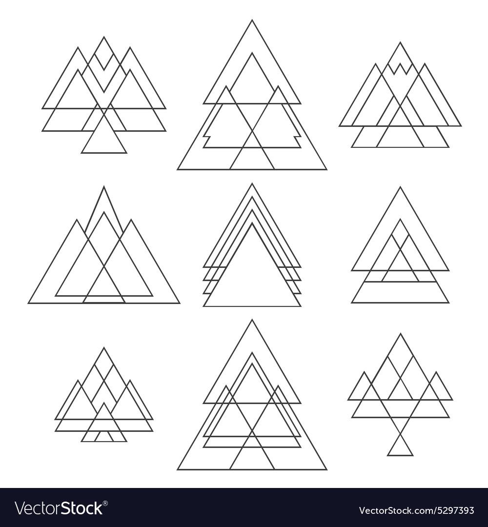 set of trendy geometric shapes geometric hipster vector imageG Ometric Shape #6