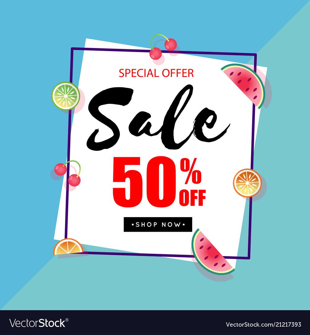 Special offer sale 50 off square frame blue backg
