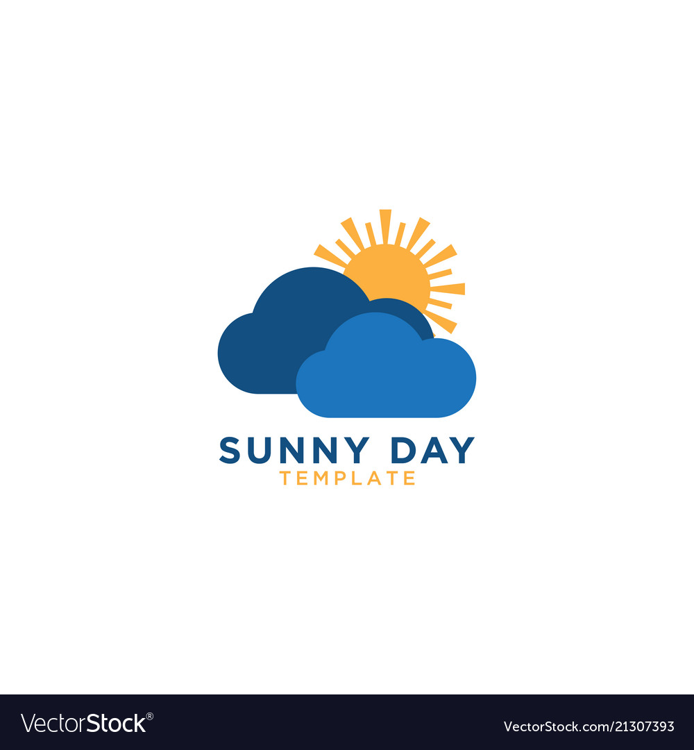 Sunny day logo graphic design template