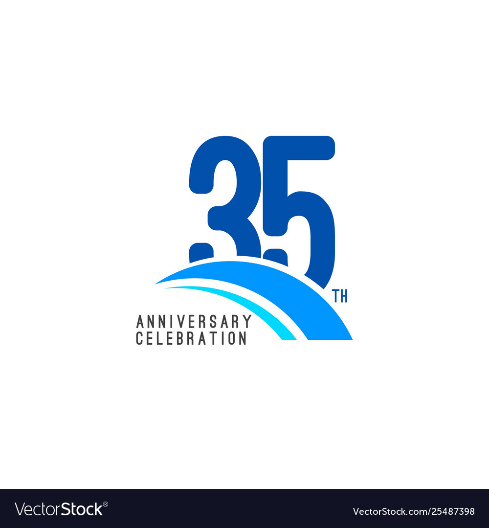 35 year anniversary celebration template design