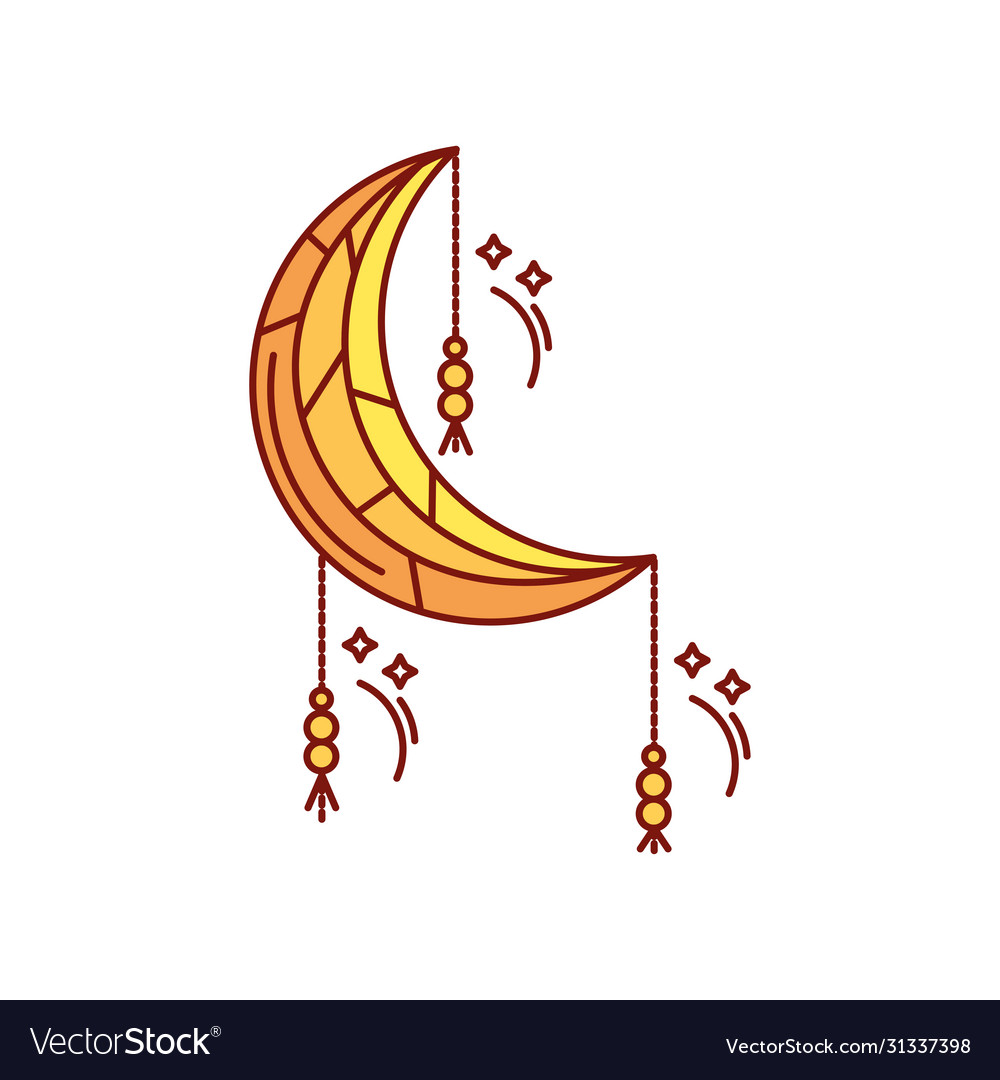 crescent moon ramadan on white background vector image crescent moon ramadan on white background vector image