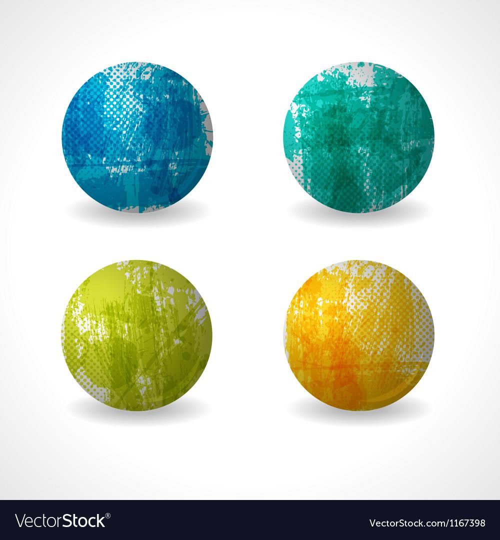 Grunge Circle Design vector image