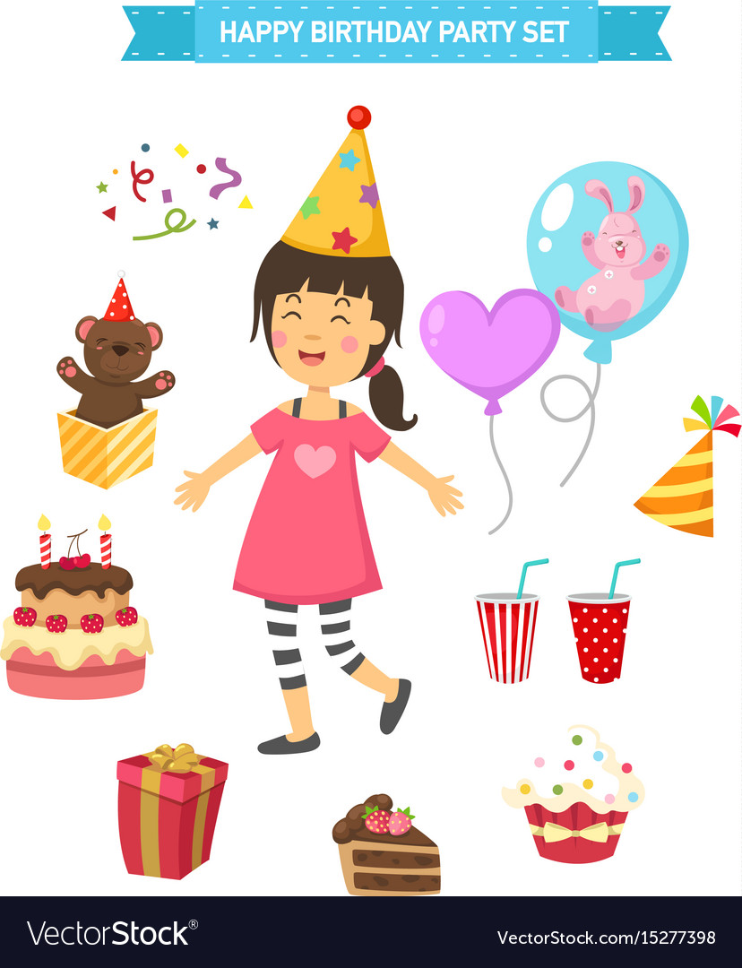 Happy birthday party kids set