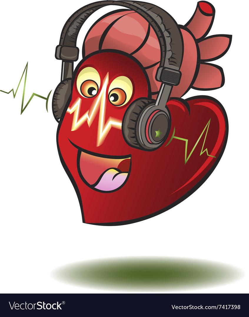 Heart in earphones