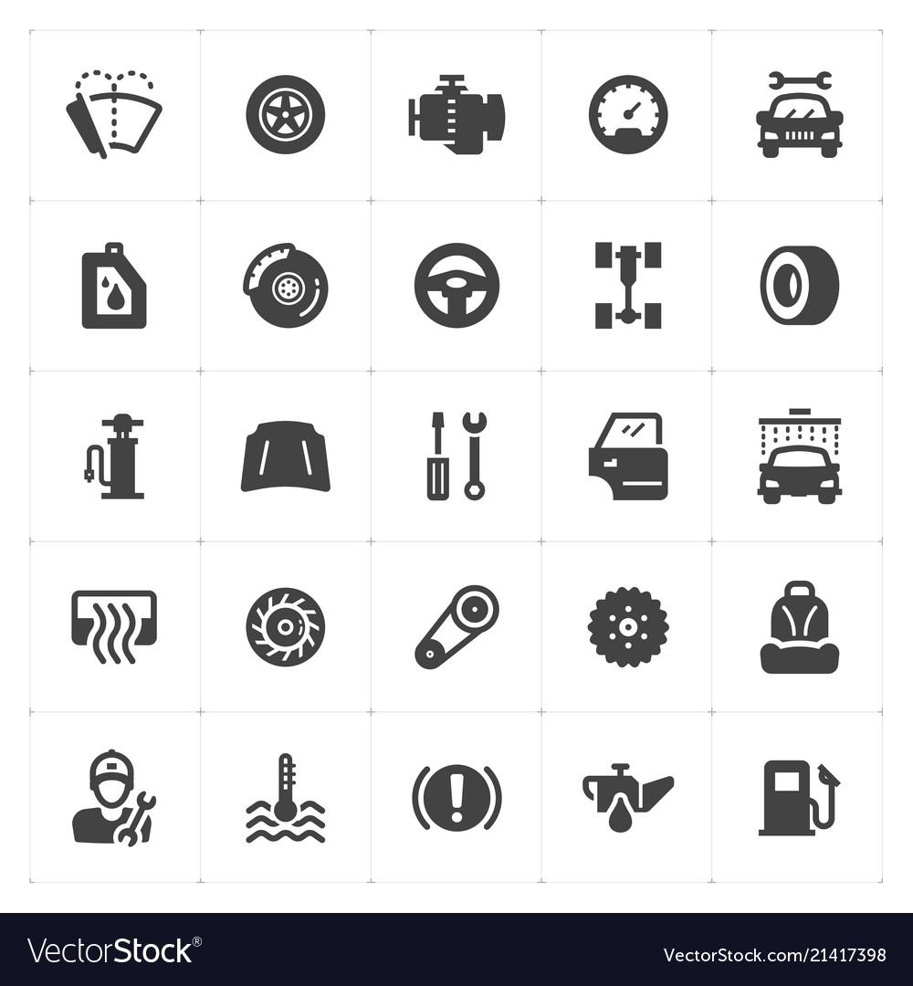 Icon set - garage and auto filled icon