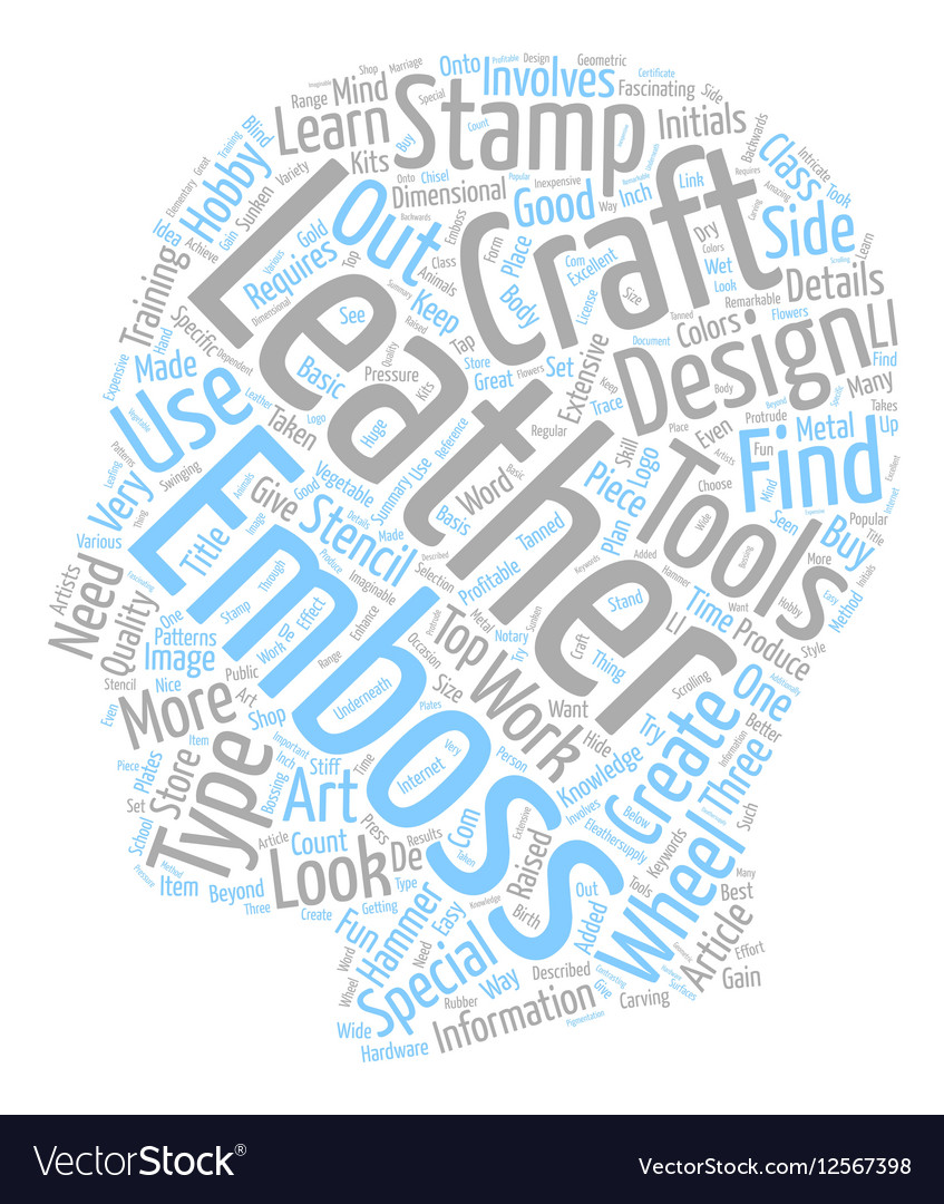 Leather Craft Details text background wordcloud