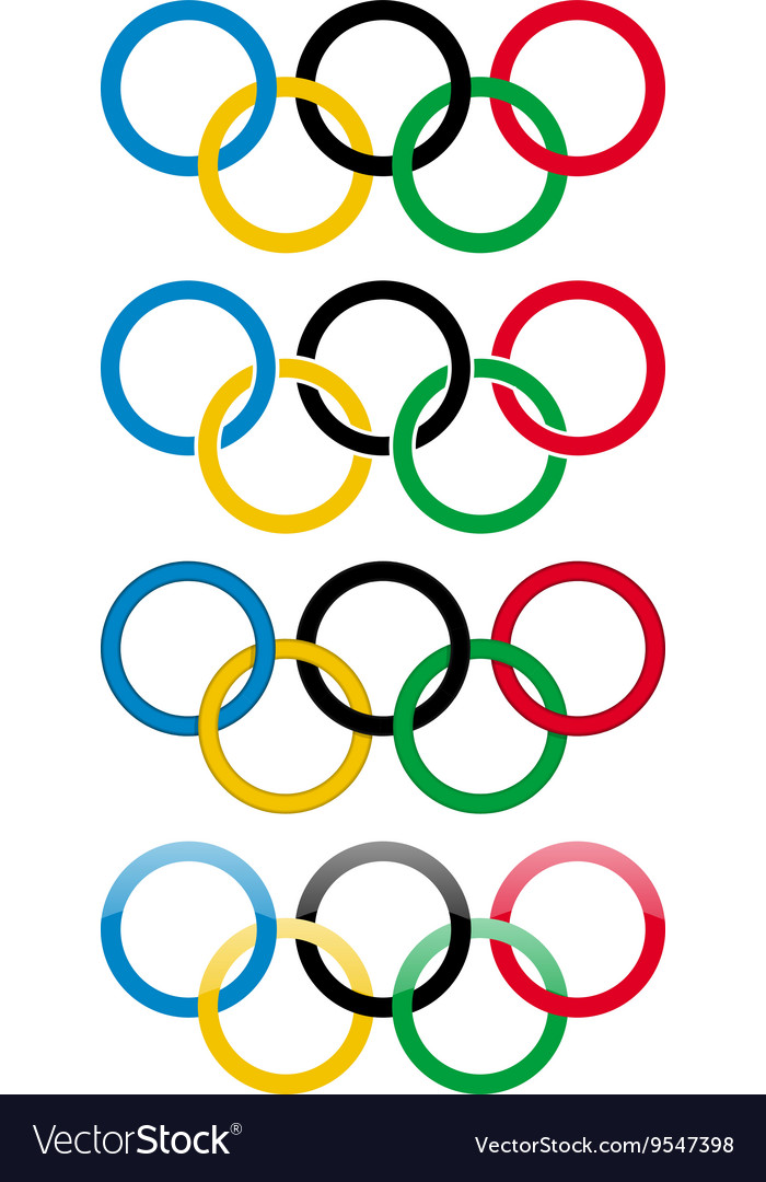 Olympic games icons vector image