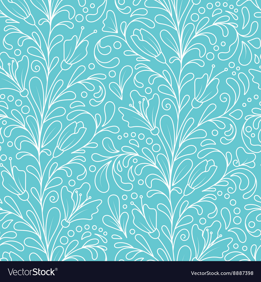 Ornate floral seamless texture hand draw endless