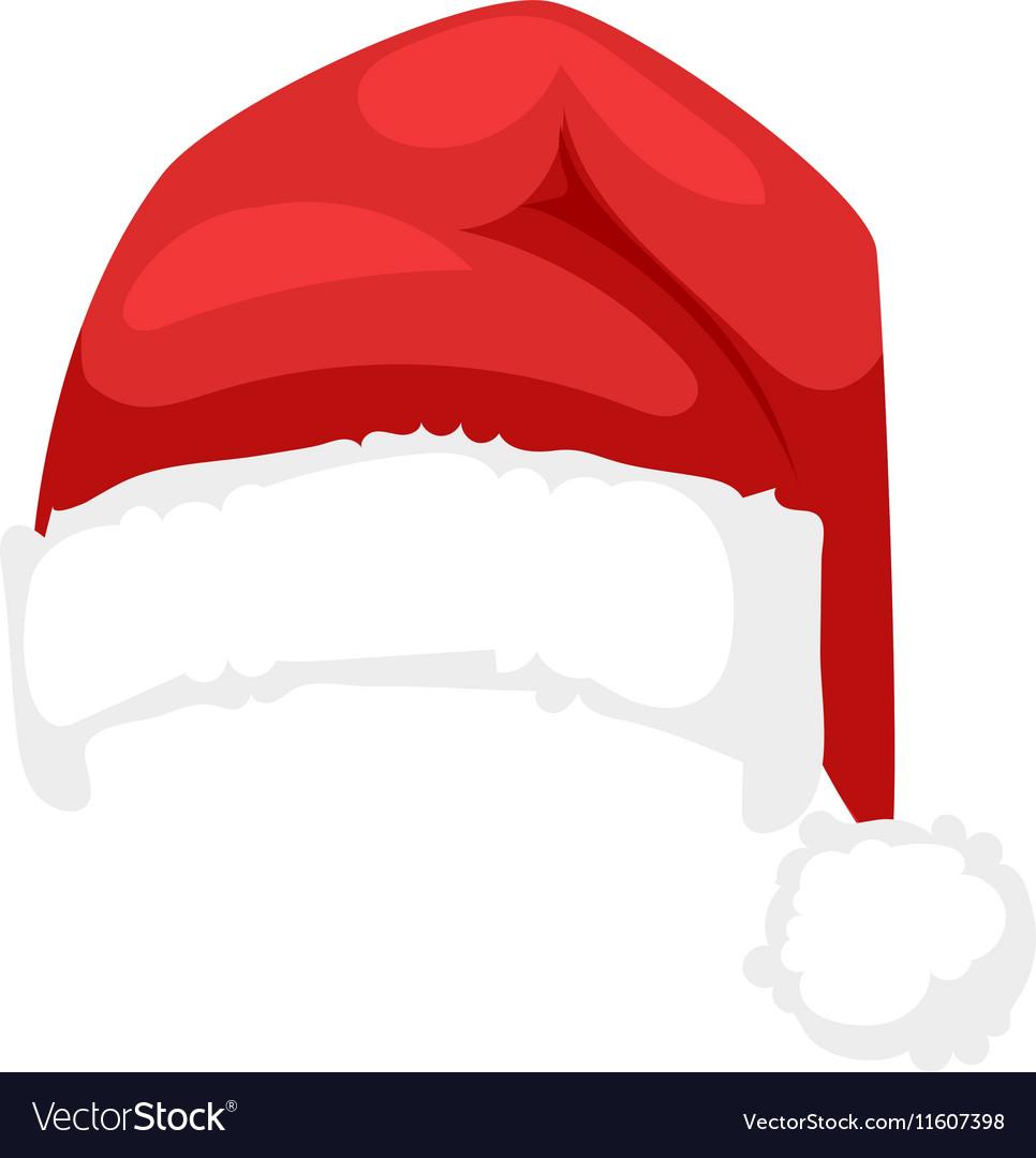 santa christmas hat royalty free vector image vectorstock rh vectorstock com christmas hat vector free download christmas hat vector free download