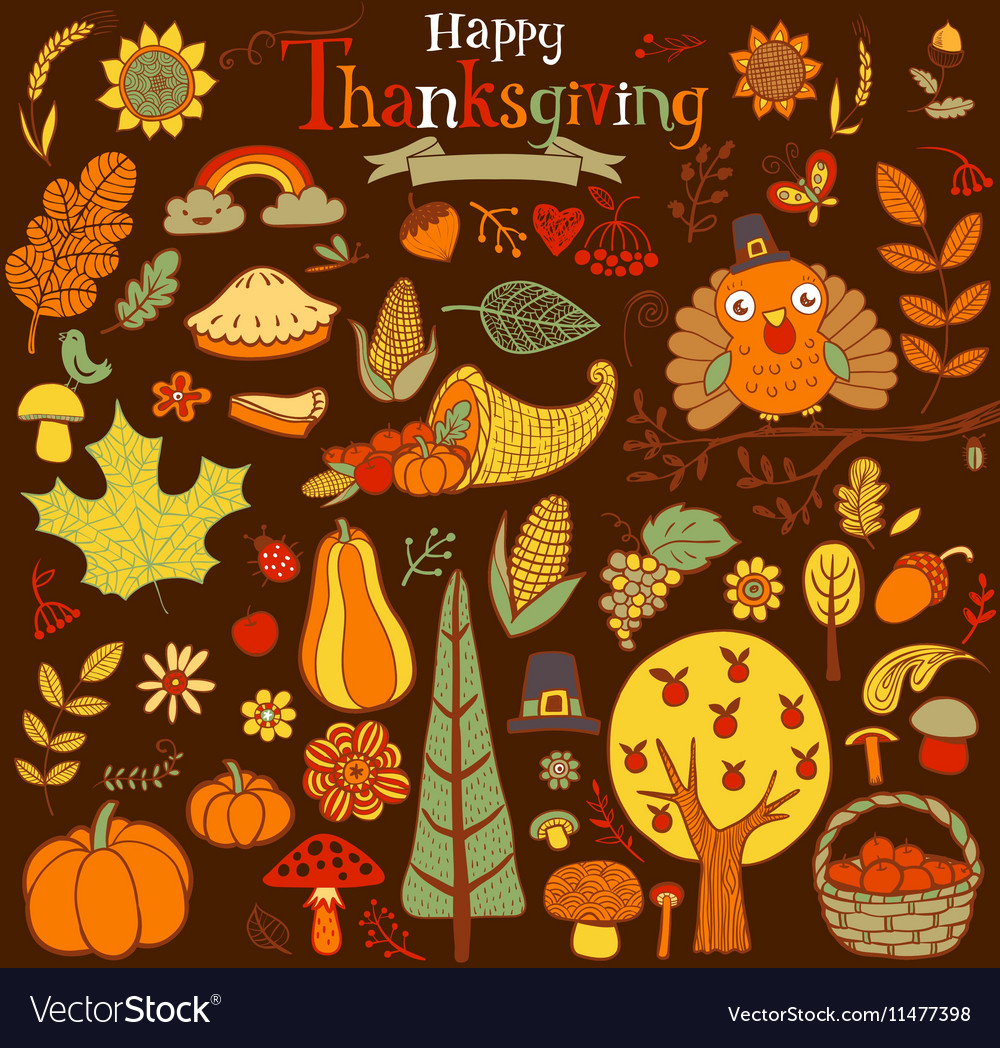 Thanksgiving design elements