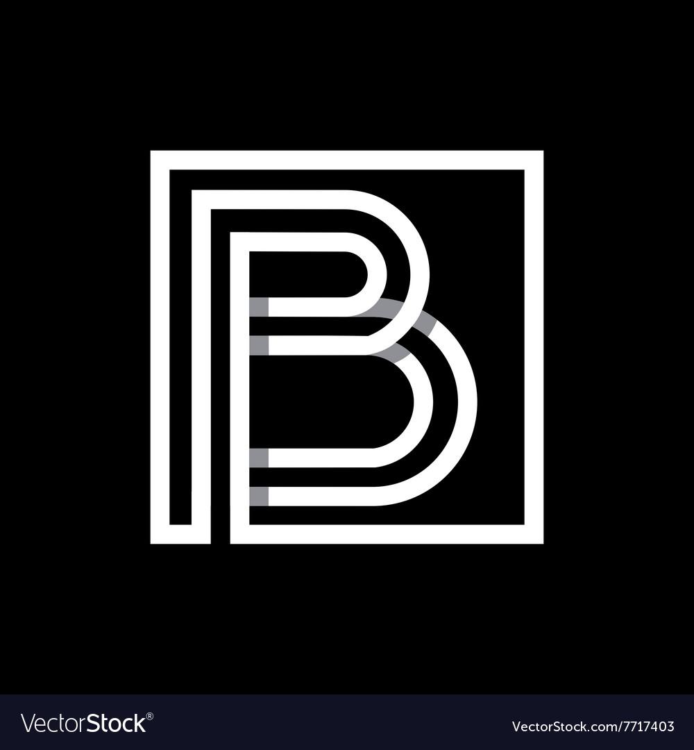 Capital letter b monogram logo emblem