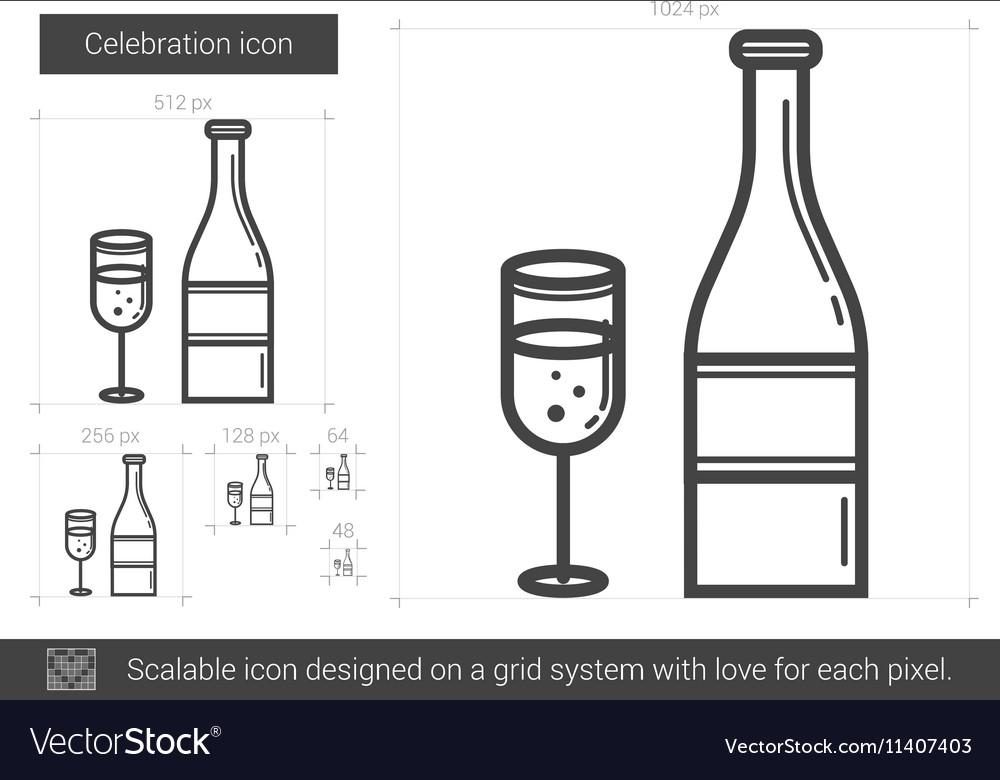 Celebration line icon vector image