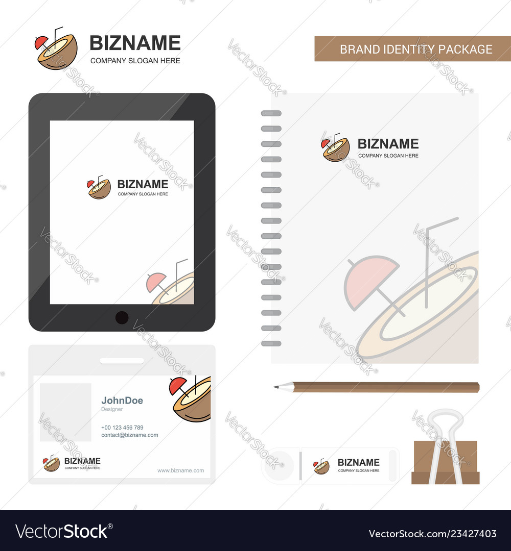 Coconut business logo tab app diary pvc employee