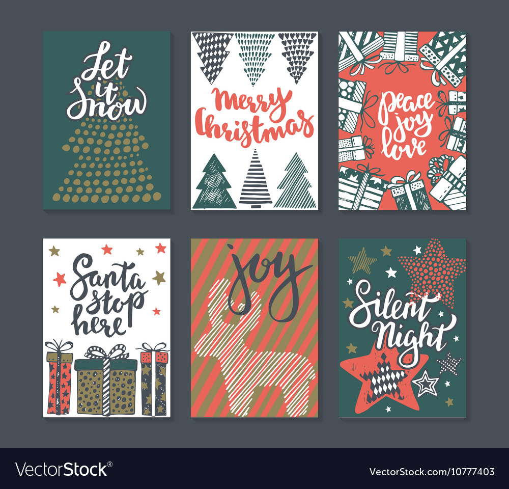 Collection of six Christmas greeting cards