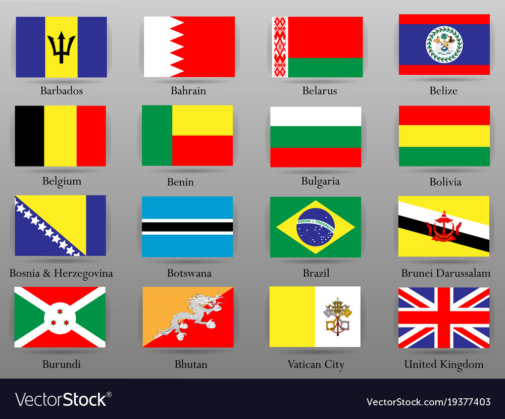 Flags of all countries of the world part 2 vector image