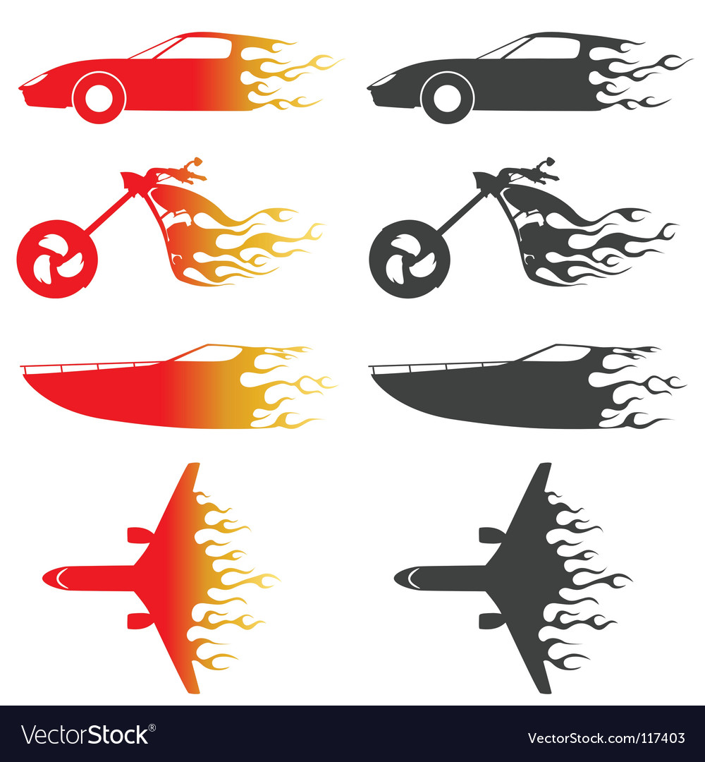 Flame vehicles