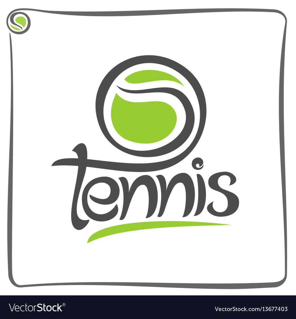 Green ball of lawn tennis vector image
