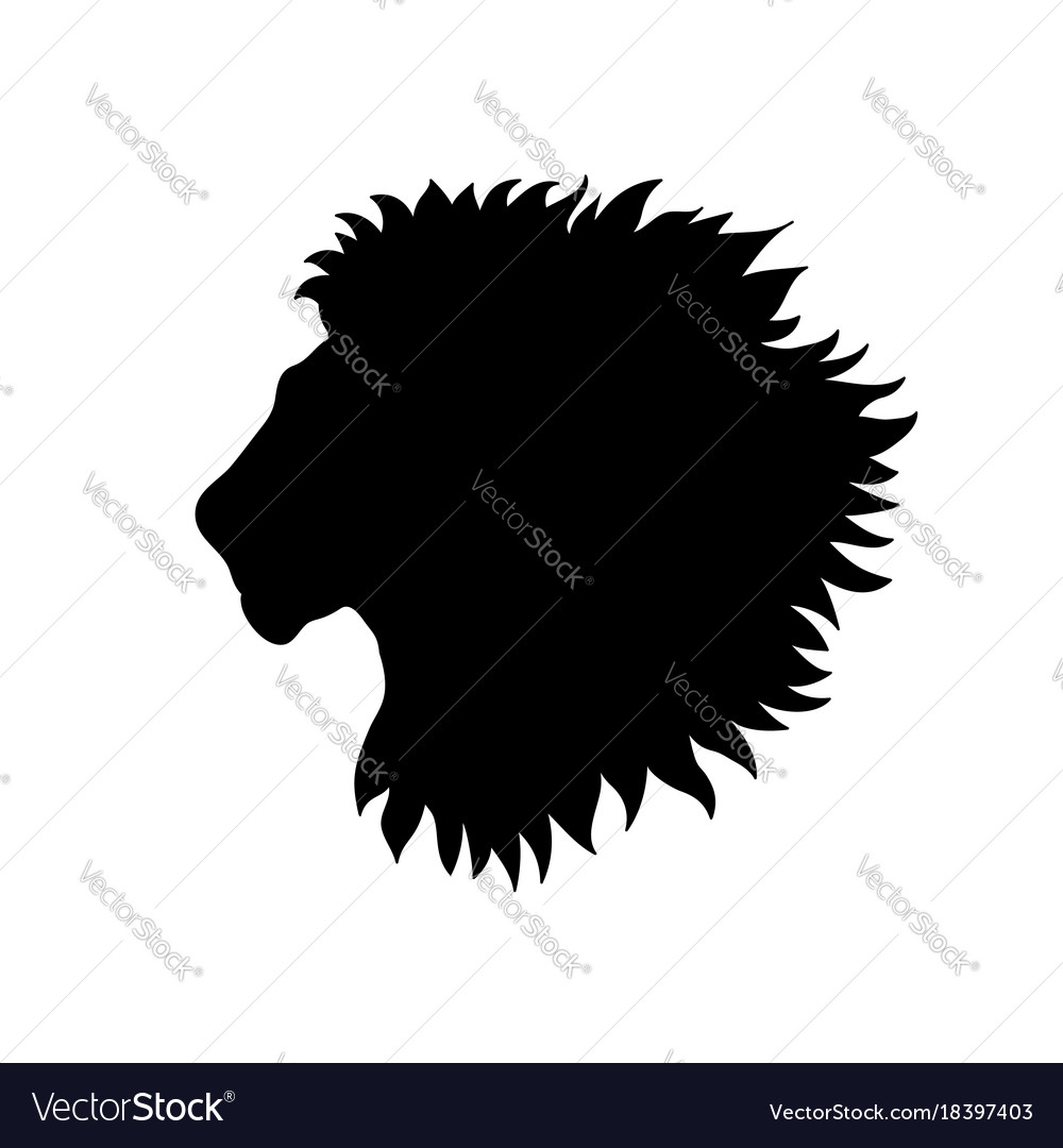 Lion head african animal lion profile isolated