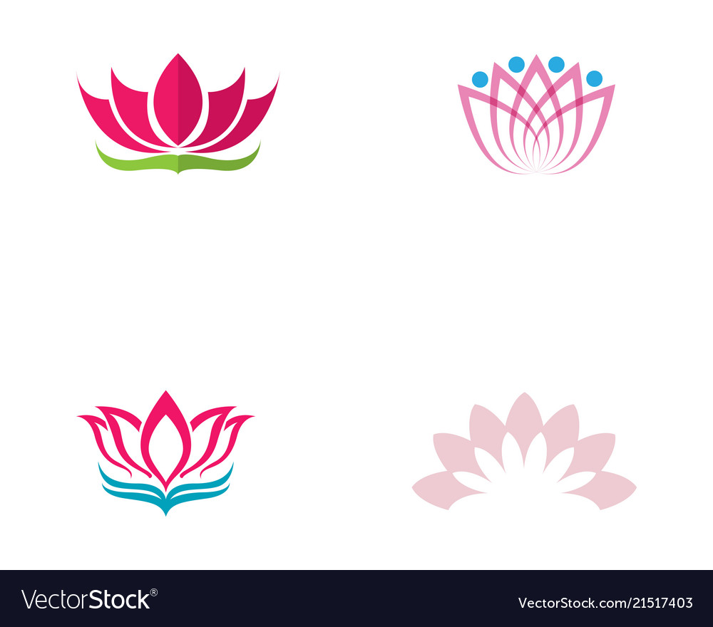 lotus flower logo and symbols template royalty free vector