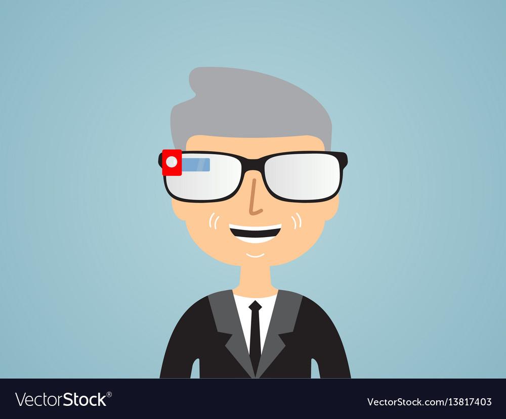 Men in smart glasses