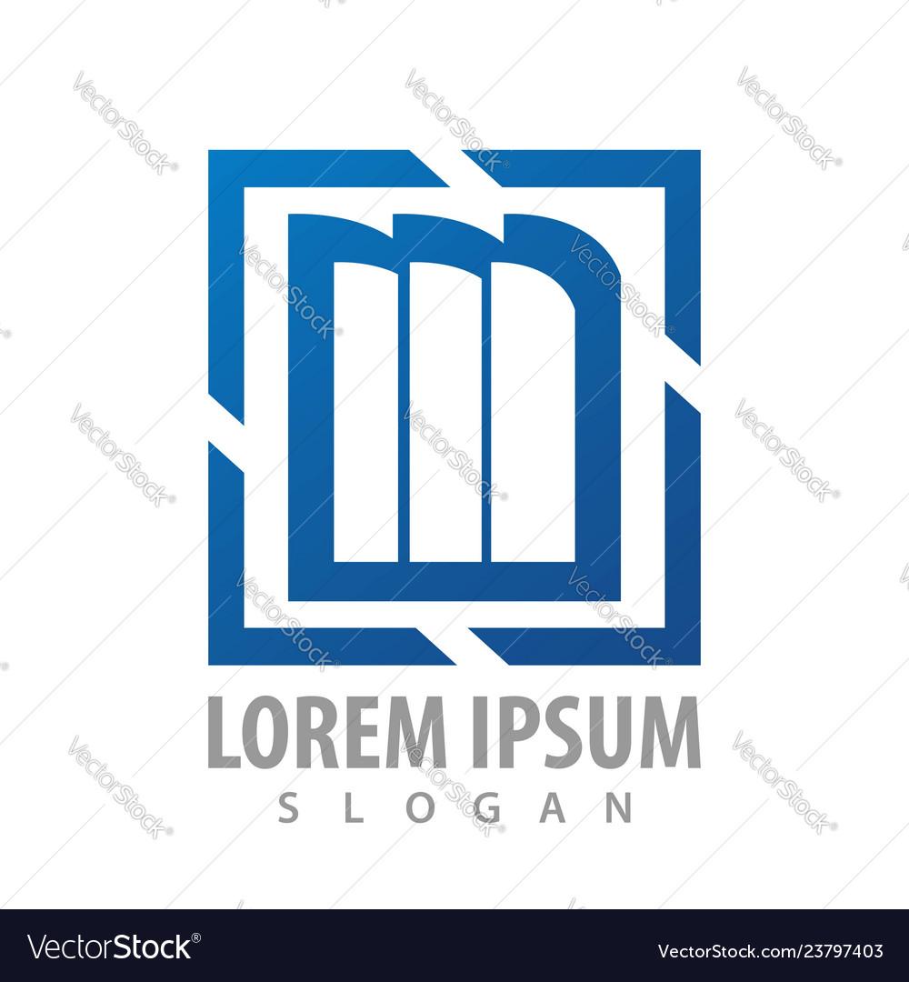 Square bookshelf blue logo concept design symbol