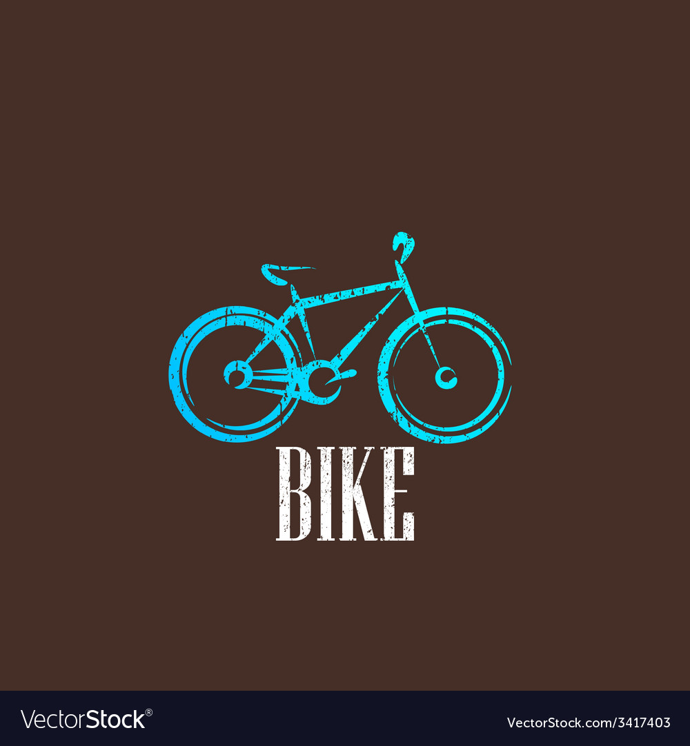 Vintage with a bike icon