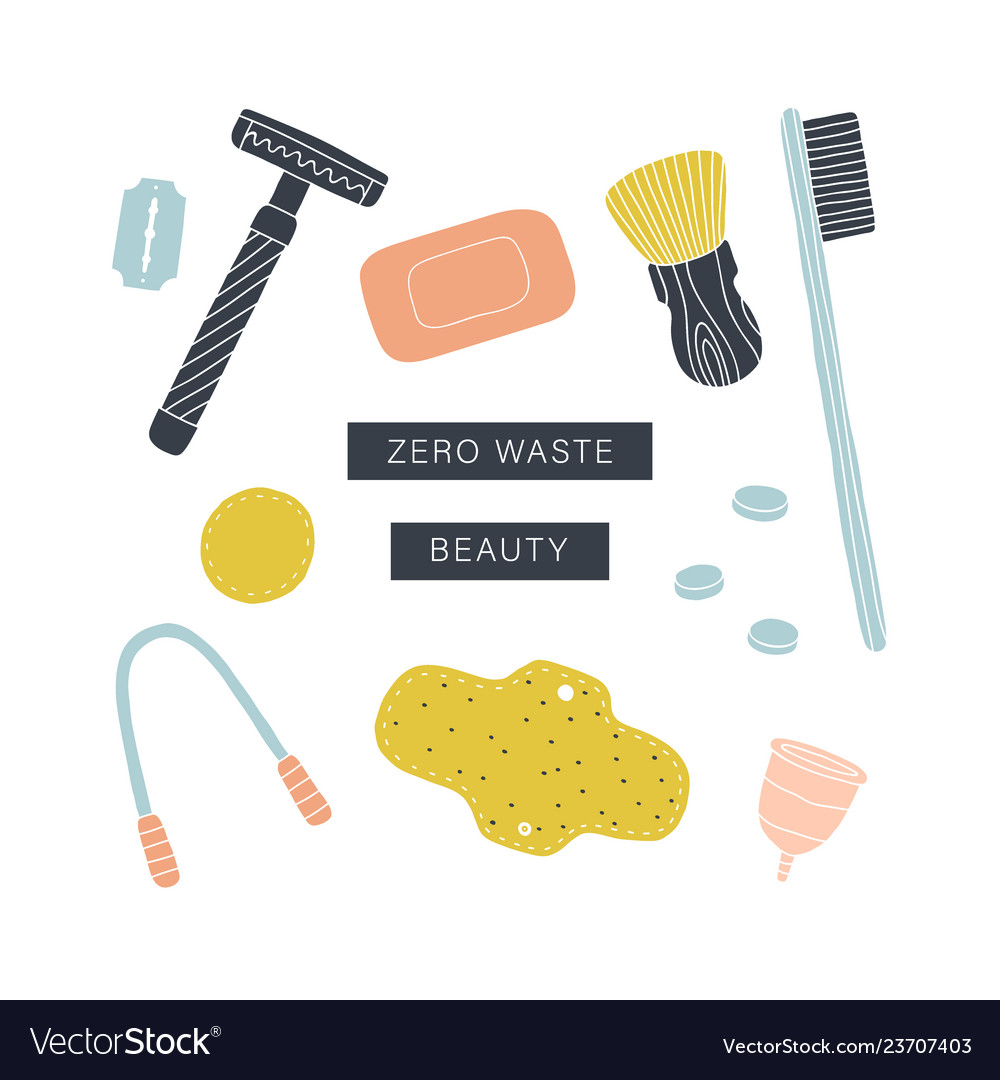 Zero waste beauty kit eco friendly reusable items