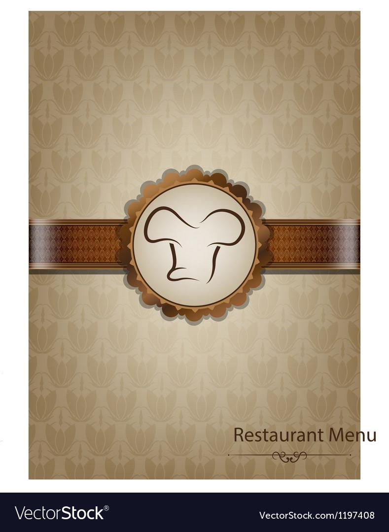 Brown restaurant menu design