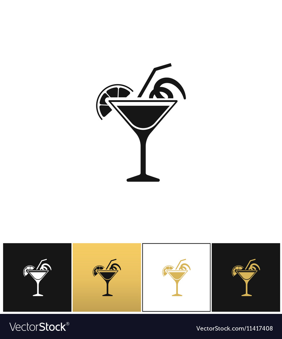 Cocktail glass sign like margarita icon