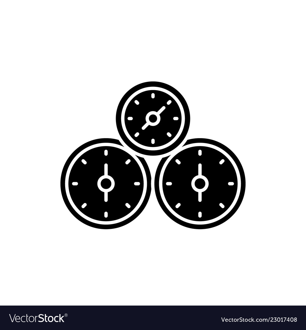 Control panel black icon sign on isolated