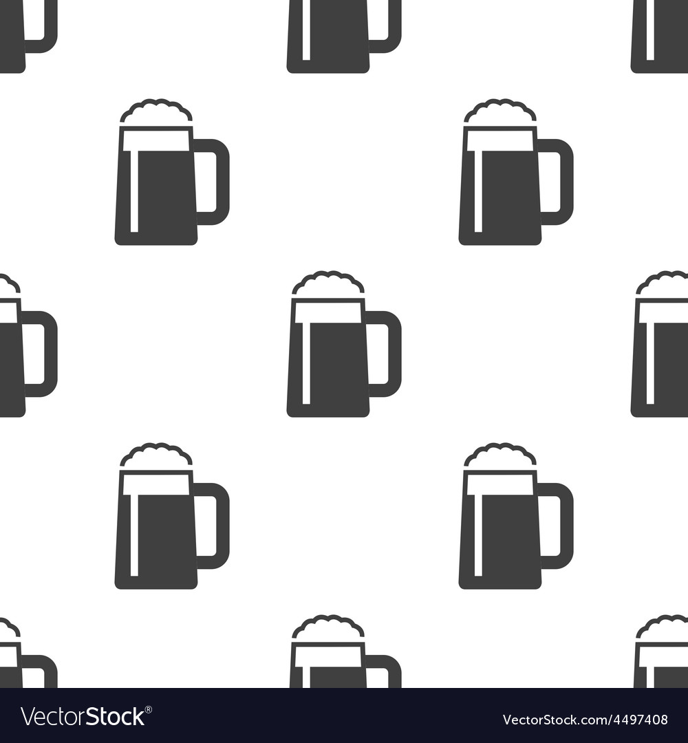 Glass of beer seamless pattern