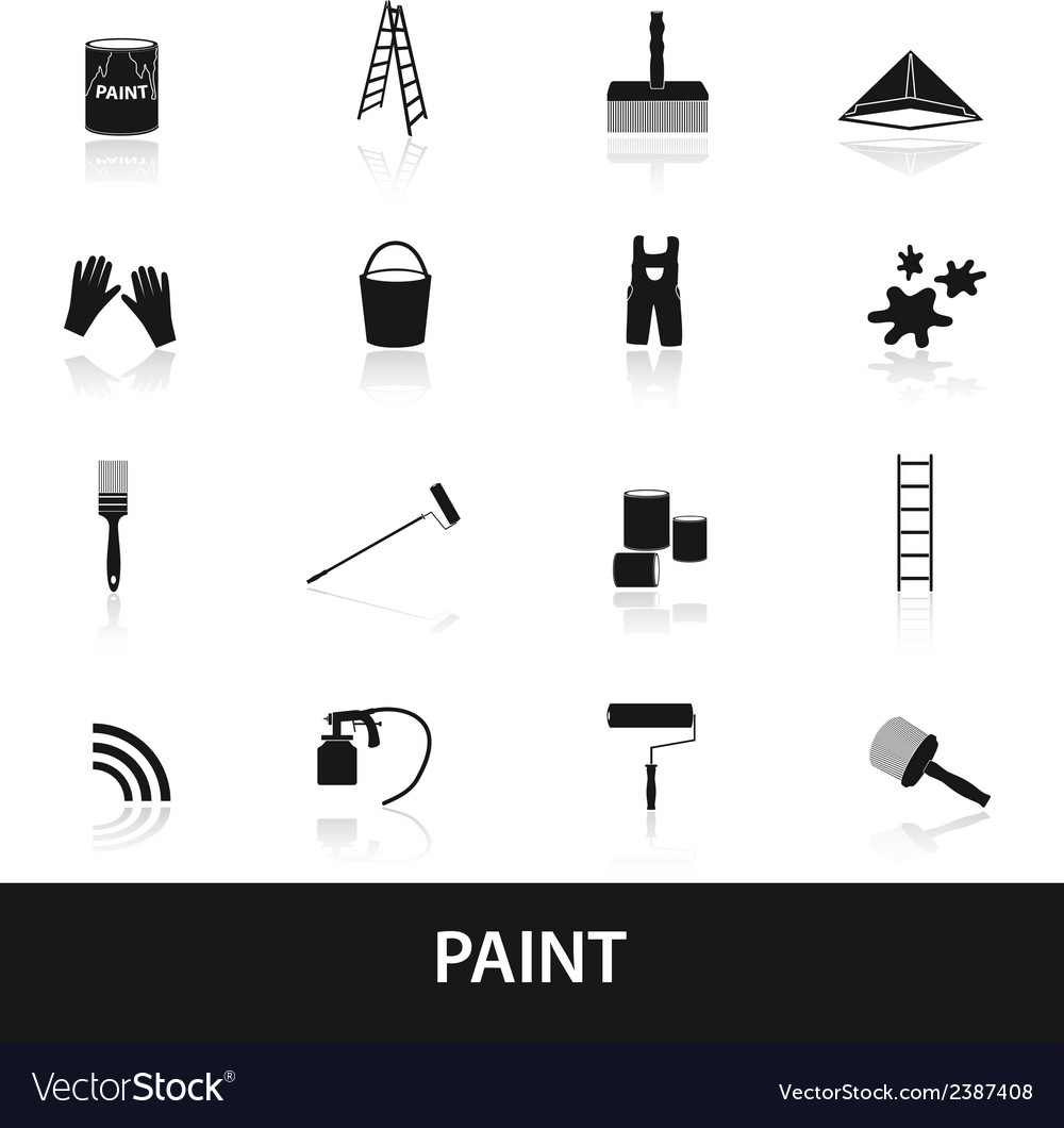 Paint icons set eps10 vector image