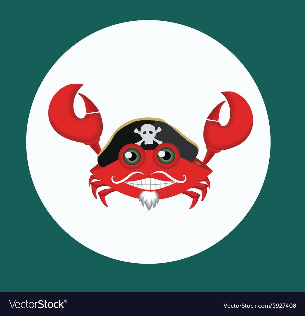 pirate crab royalty free vector image vectorstock