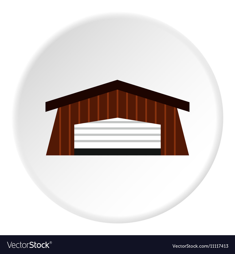 Barn icon flat style vector image