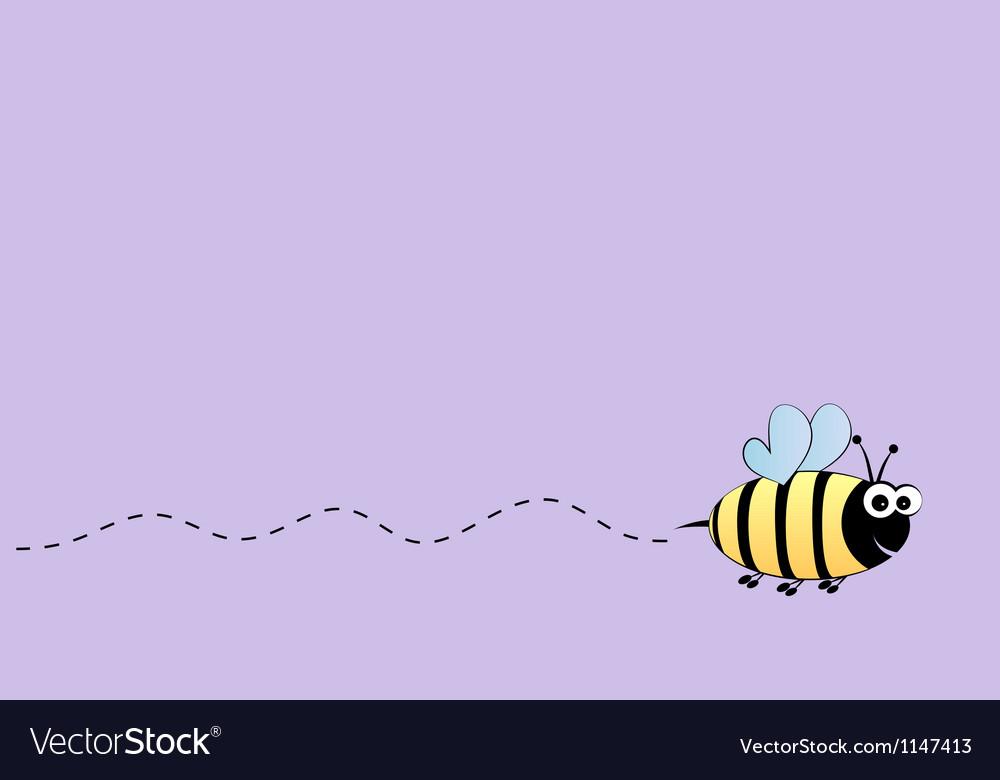 Bee flight background