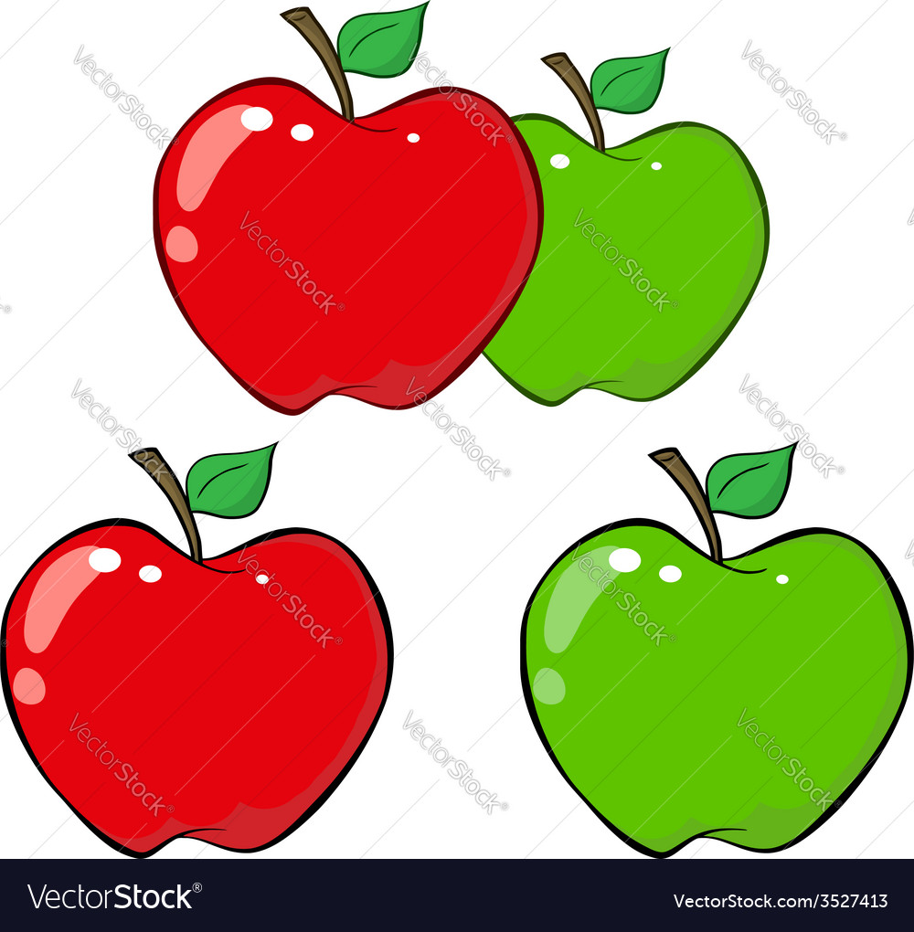 cartoon apples royalty free vector image vectorstock rh vectorstock com cartoon apples with faces cartoon apples showing support