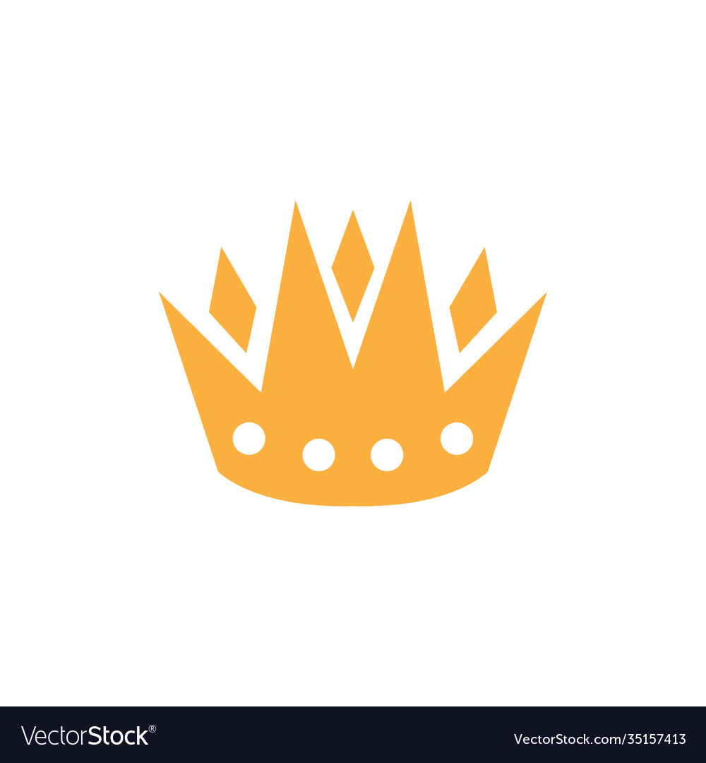Crown icon design template isolated