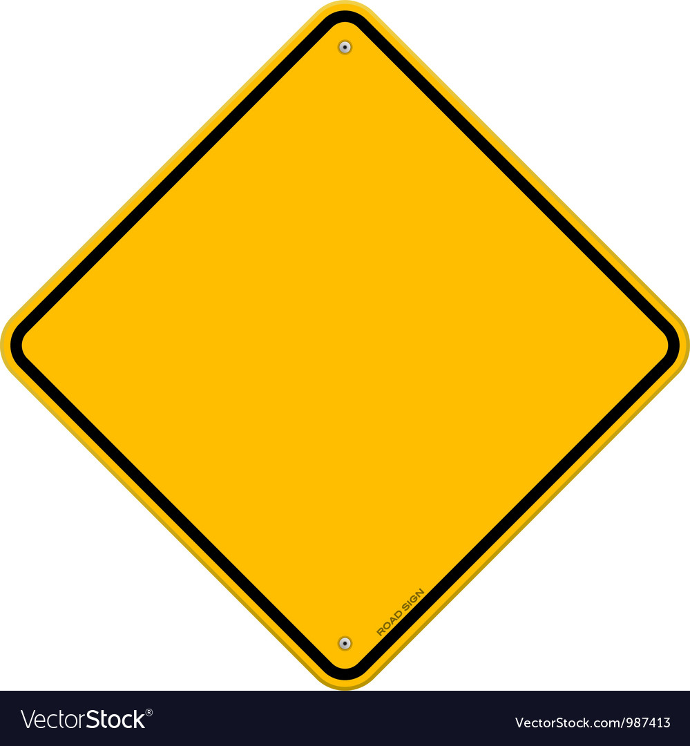 Isolated Blank Yellow Sign vector image
