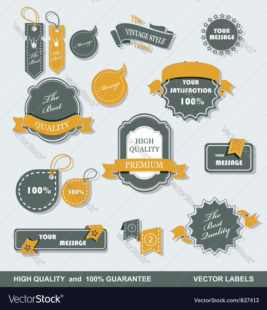 Labels retro 1 vector image