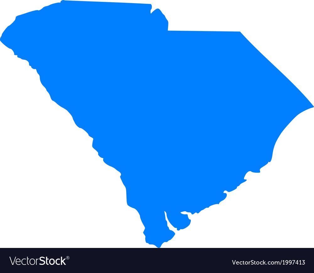Map Of South Carolina Royalty Free Vector Image