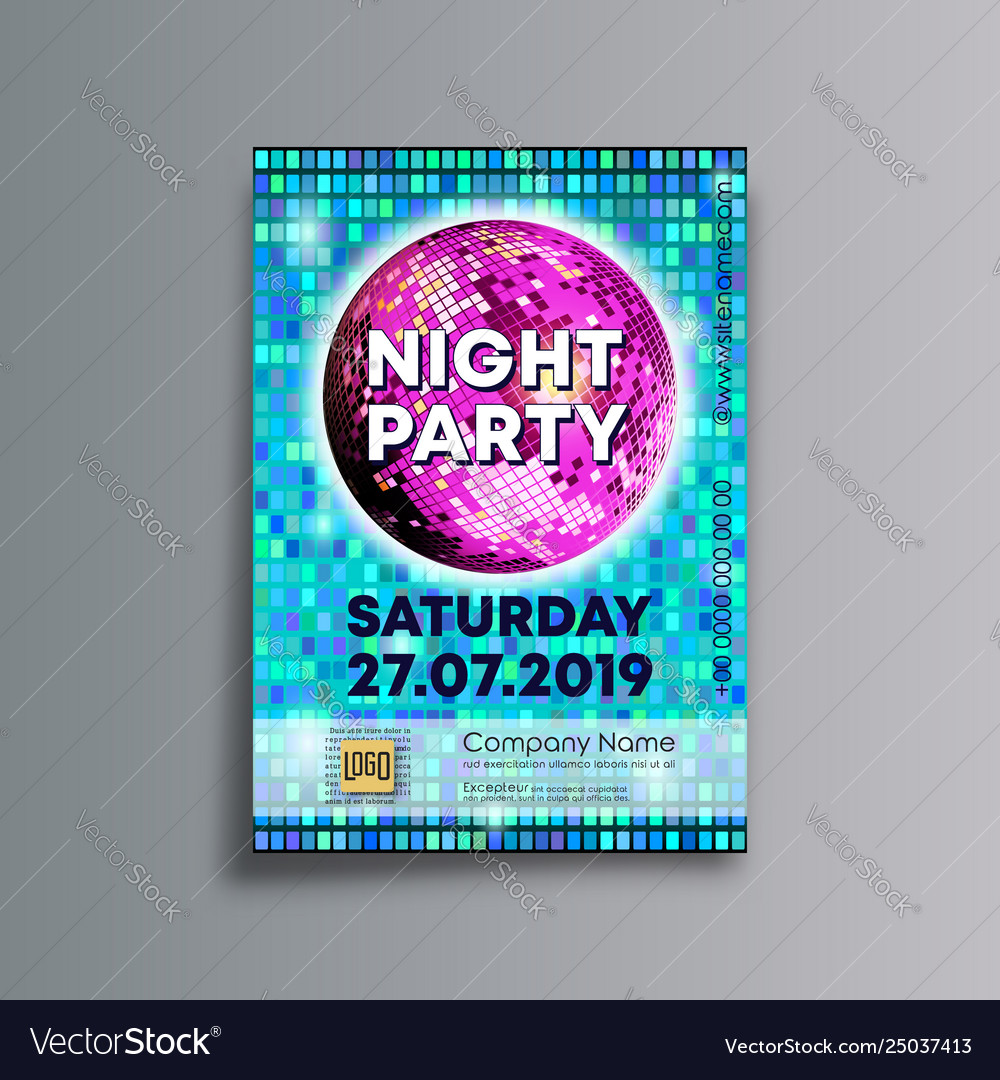 Night party background template designed