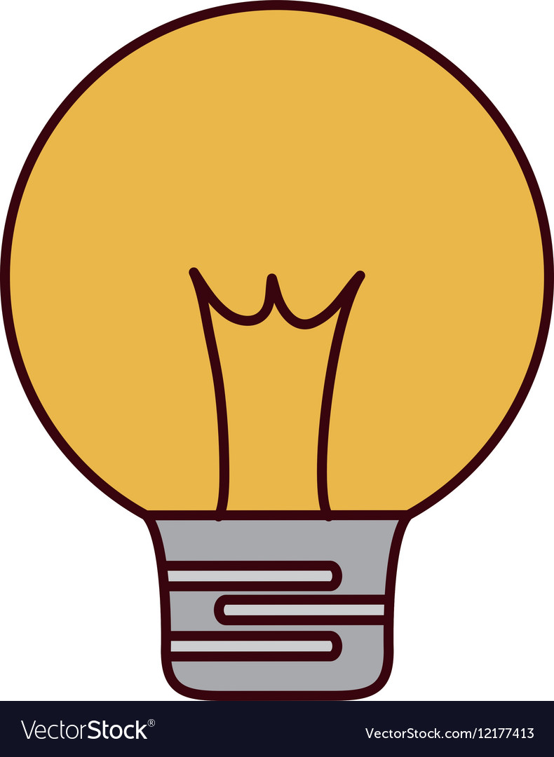 Regular lightbulb icon image